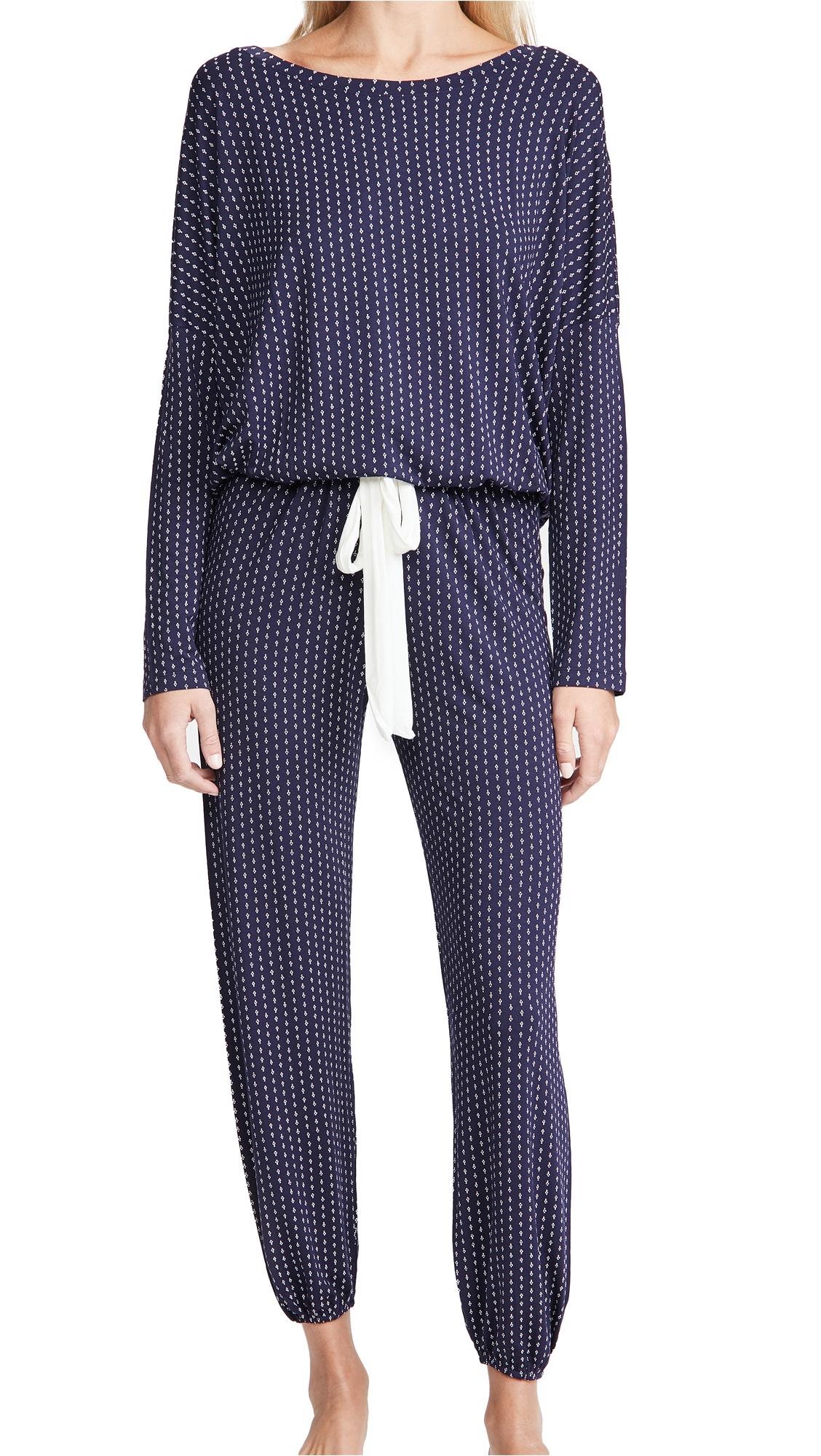 Eberjey Geo Spots Slouchy Pajama Set