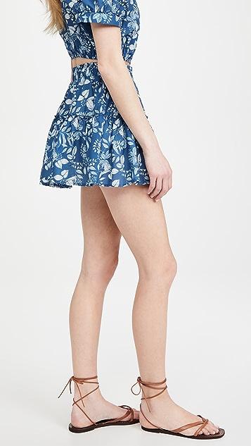 Eberjey Tropical Leaves Nellie Skirt