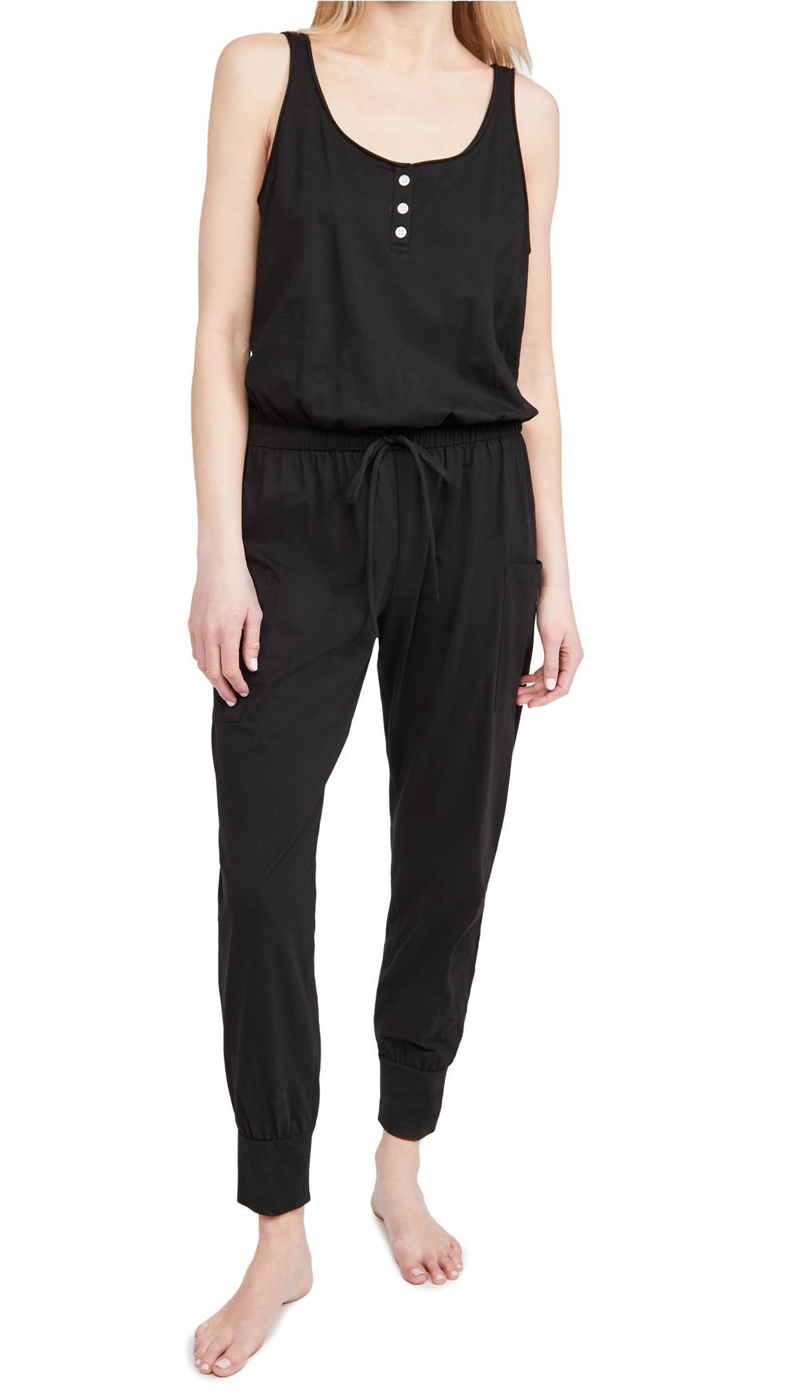 Eberjey Cottons THE BRIE CARGO JUMPSUIT