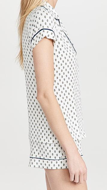 Eberjey Gisele Printed Shorts Pj Set
