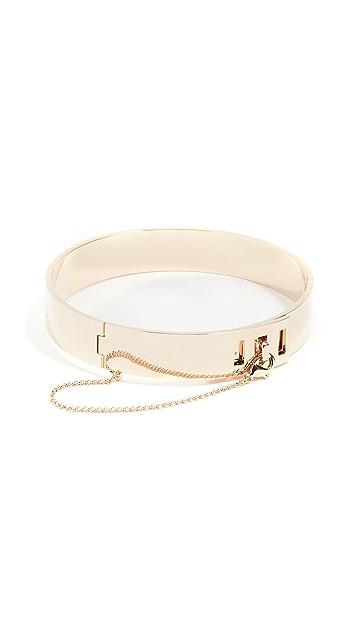 Eddie Borgo Safety Chain Choker Necklace