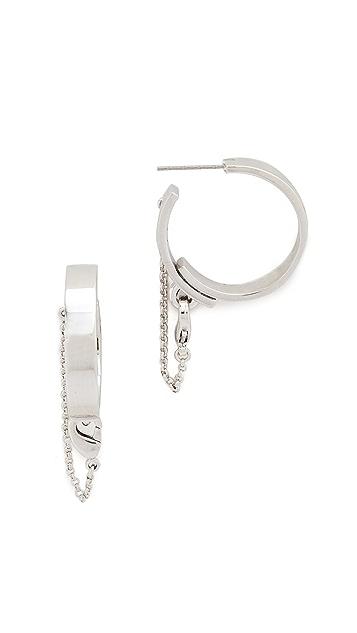 Eddie Borgo Thin Safety Chain Hoops