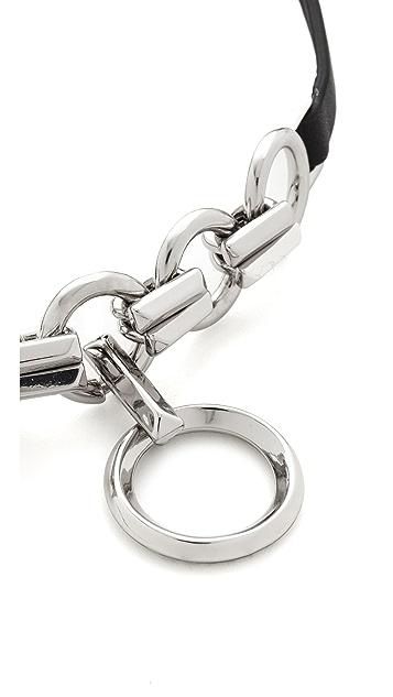 Eddie Borgo Leather O Ring Choker