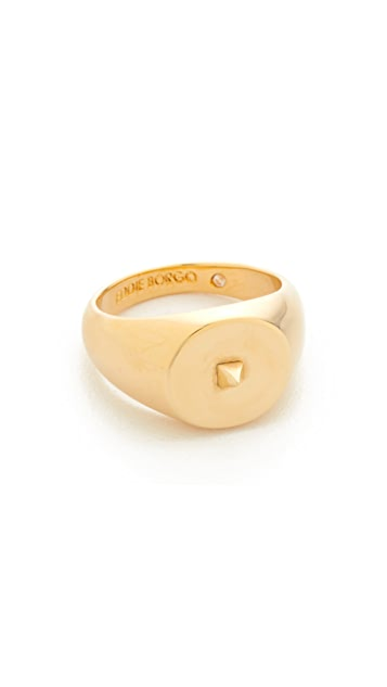 Eddie Borgo Mini Pyramid Pinky Signet Ring - Shiny Gold