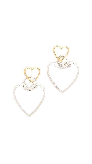 Eddie Borgo Locked Heart Earrings