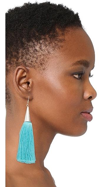 Eddie Borgo Silk Tassel Earrings