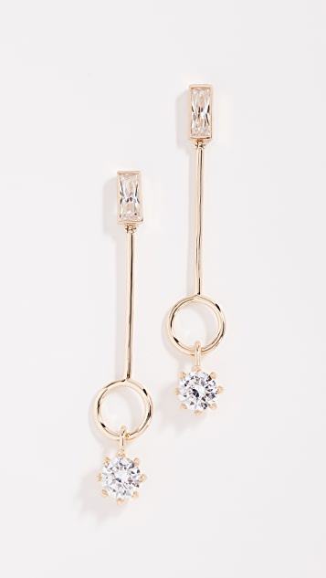 Eddie Borgo Baguette Estate Line Earrings