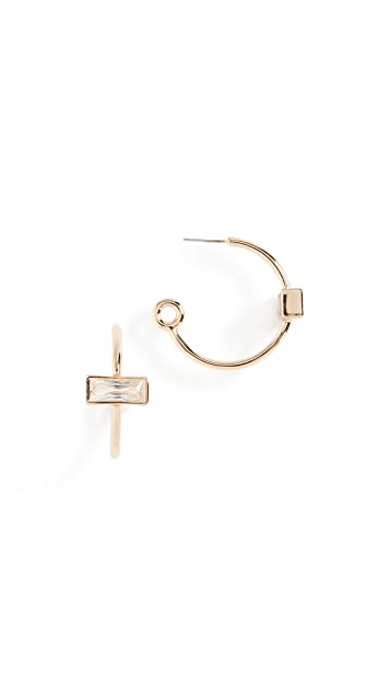 Eddie Borgo Baguette Hoop Earrings