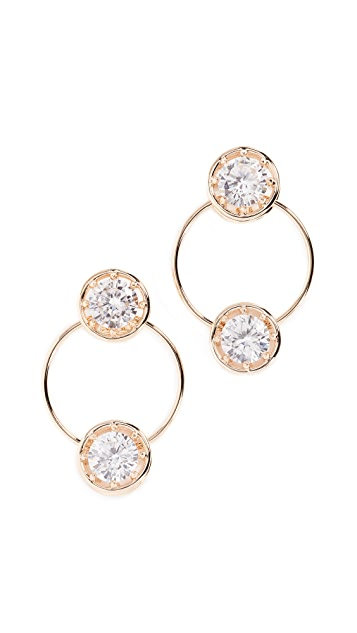 Eddie Borgo Circle Estate Hoop Earrings