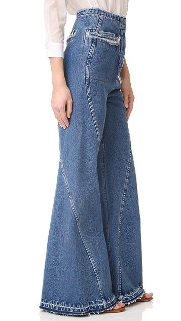 Esteban Cortazar High Waist Flared Jeans