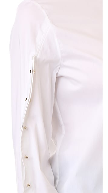 Esteban Cortazar Button Sleeve Shirt