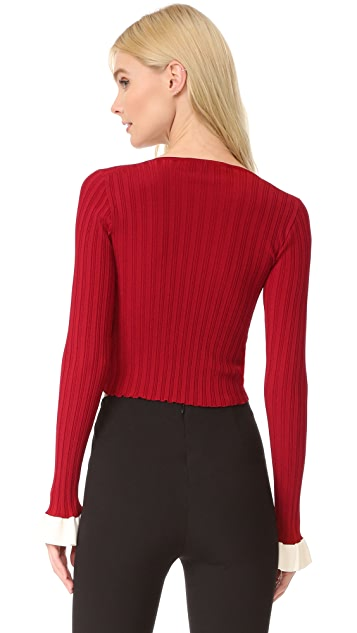 Esteban Cortazar Twist Front Sweater