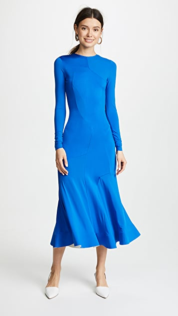 Esteban Cortazar Interlock Long Sleeve Dress