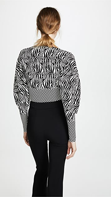 Esteban Cortazar Cropped V Neck Sweater