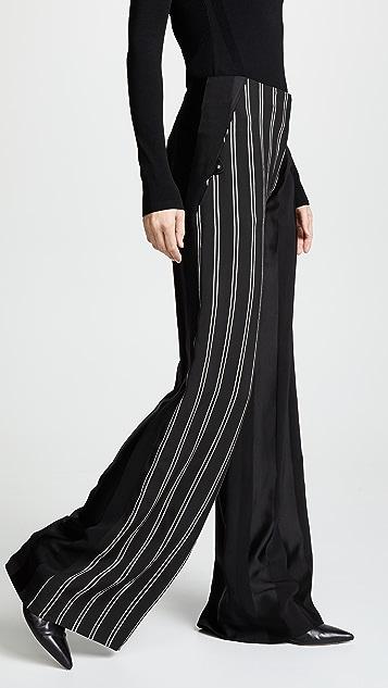 Esteban Cortazar Bold Stripe Side Closure Pants