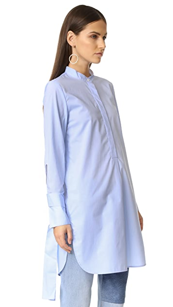 Edition10 Button Down Tunic Top