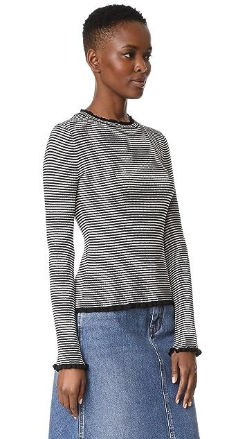 Edition10 Metallic Stripped Sweater