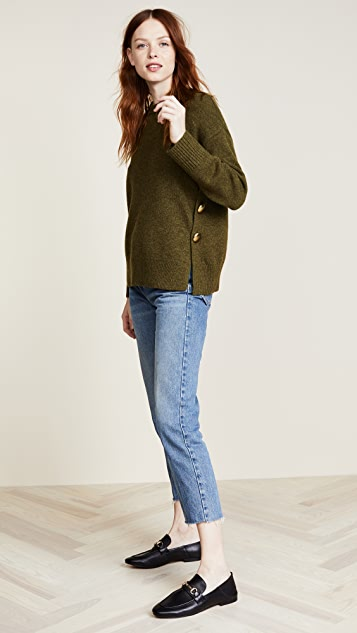 Edition10 Buttoned Loose Sweater