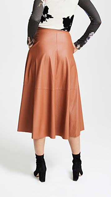Edition10 Faux Leather Maxi Skirt