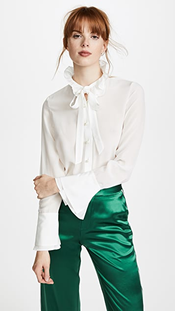 Edition10 Ruffled Blouse - Snow White