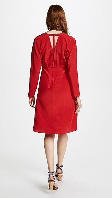 Edition10 V Neck Slim Dress