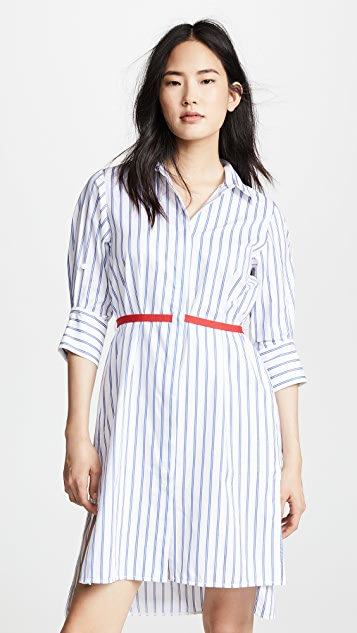 Edition10 Striped Dress with Belt