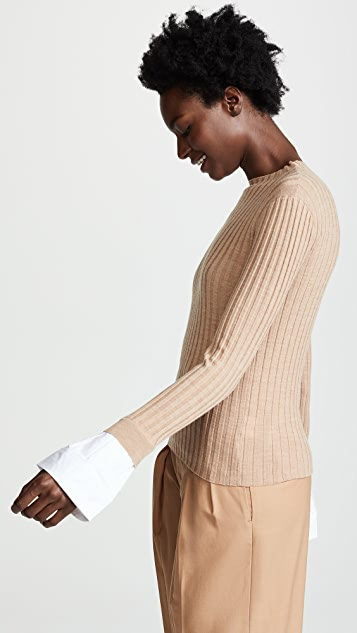 Edition10 Ribbed Sweater with Cuffs