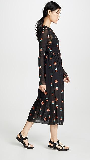 Edition10 网眼织物花朵连衣裙