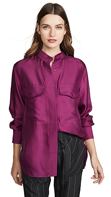 Edition10 Silk Button Down Shirt