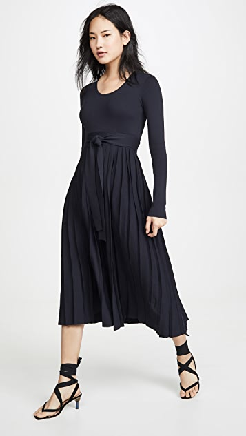 Edition10 汤匙领中长连衣裙