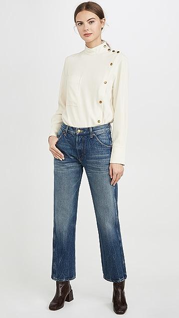 Edition10 Блуза с отделкой пуговицами