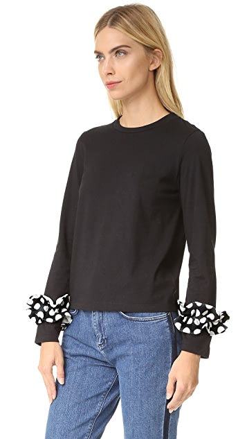 EDIT Long Ruffle Sleeve Tee