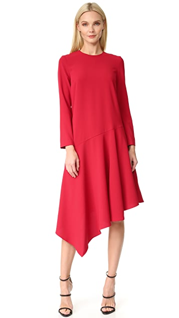 EDIT Asymmetrical Midi Dress