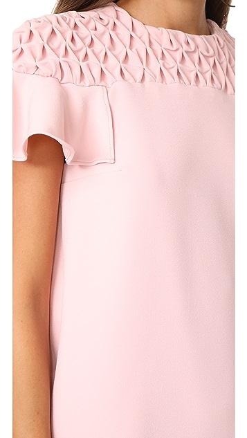 EDIT Frill Sleeve Smock Yoke Mini Dress