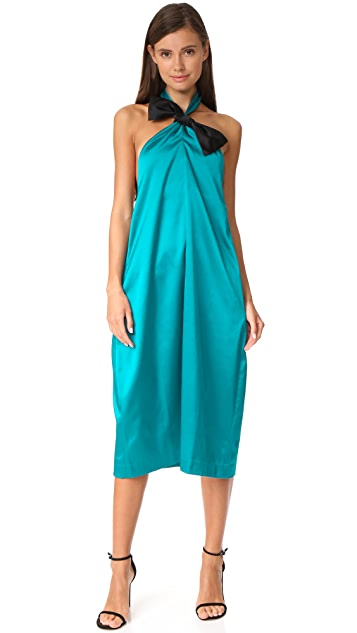 EDIT Halter Neck Knot Dress