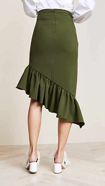 EDIT Asymmetric Peplum Skirt