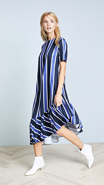 EDIT Asymmetric Oversized Peplum Dress