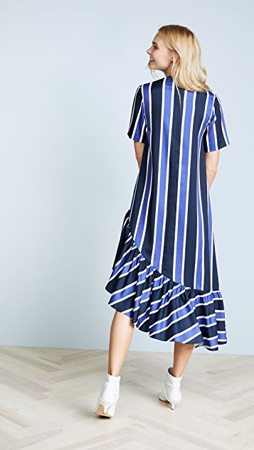 EDIT Asymmetric Oversized Peplum Dress