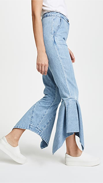 EDIT Denim Boy Pants with Box Pleats & Godets
