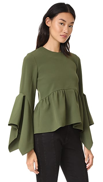 EDIT Box Pleat Peplum Top