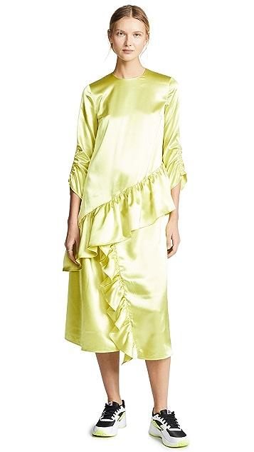 EDIT Insert Midi Frill Dress