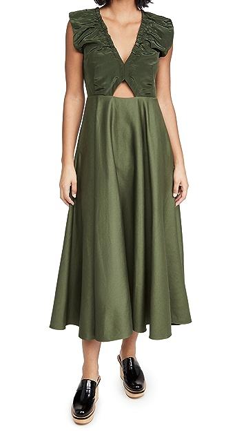 EDIT Ruched Neck Dress