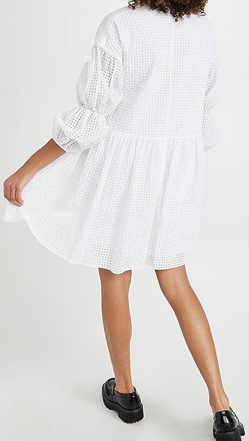 EDIT 多层袖腰褶连衣裙