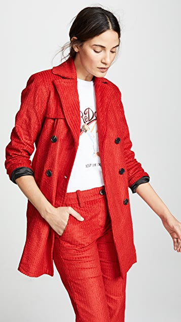 ei8htdreams Вельветовое двубортное пальто