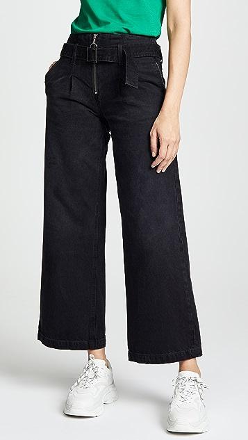 ei8htdreams Belted Wide Leg Rigid Jeans
