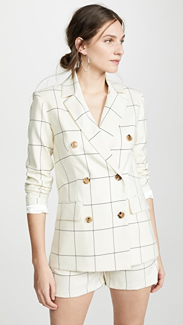 ei8htdreams Clare Checked Double Breasted Blazer