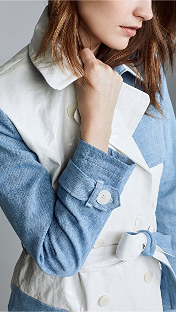 ei8htdreams Kensington Denim Block Trench Coat
