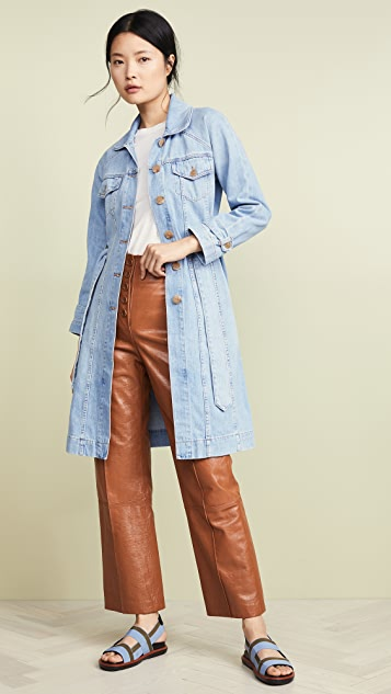 ei8htdreams Belted Denim Coat - Light Wash