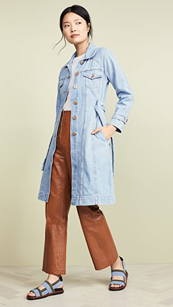 ei8htdreams Belted Denim Coat