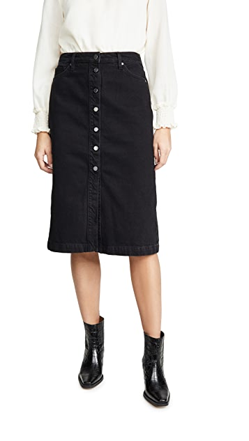 ei8htdreams Button Front Pencil Midi Skirt